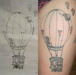 to cover one on arm -hot air balloon tattoo | Tattoo World ...