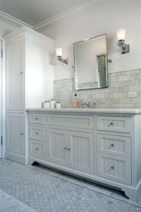Restoration Hardware Bathroom Vanities And Cabinets by Beadboard Sink Vanity Transitional Bathroom Jwt