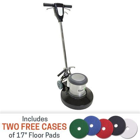 clarke floor buffer pads task pro 17 inch 1 5 hp floor buffer with 2 free cases
