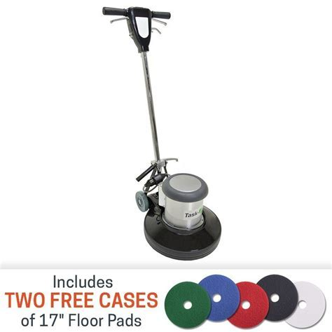 17 inch Floor Buffer Machine by Task Pro w/ Floor Pads