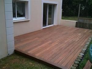 Lame De Bois Pour Terrasse : terrasse en bois sur des plots en b ton ~ Premium-room.com Idées de Décoration