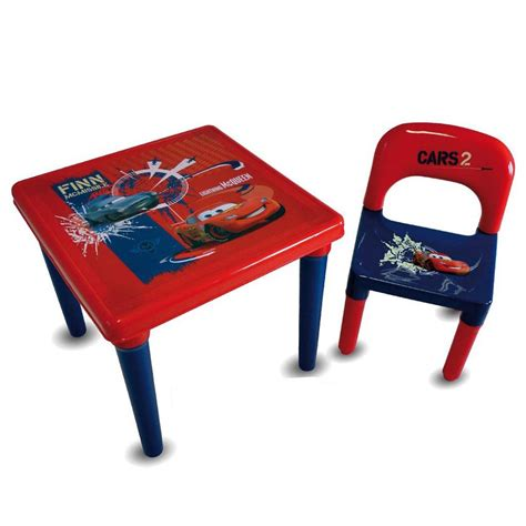 cars 3 piece table and chair set disney cars activity table chair w 35 piece drawing