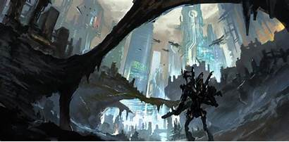 Robot Concept Fantasy Mech Artwork Futuristic Backgrounds