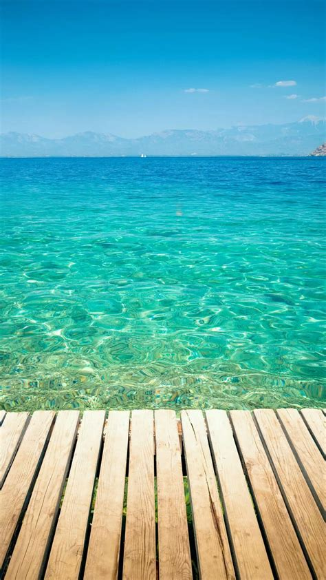 clear tropical ocean water lockscreen android wallpaper