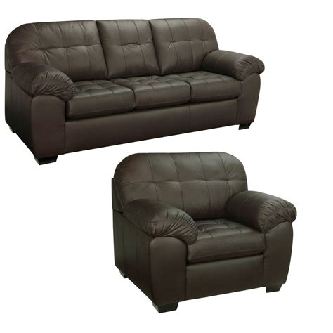 chocolate brown italian leather sofa and chair ebay