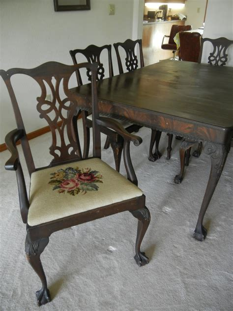 furniture antique dining room table foot chippendale