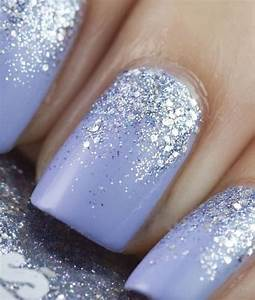 Light purple nails with a glitter coming up | Nails ...