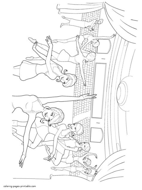 barbie   pink shoes coloring pages  kids  coloring pages printablecom