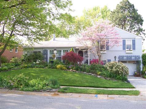 Split Level House Backyard