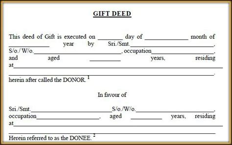 gift deed form texas 5 ways of transferring or acquiring real estate property