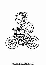 Bike Bicycle Coloring Transportation Colorear Printable Transporte sketch template