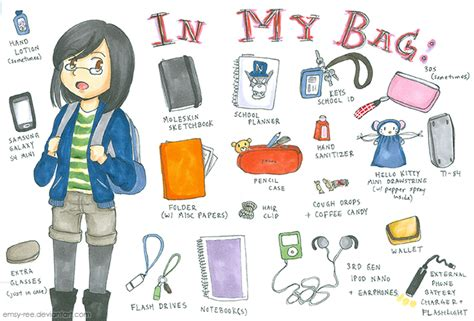 What's In Your Bag? Meme By Emsy-ree On Deviantart