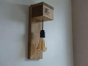 Lampe En Palette : lampe applique bois led luminaires par travelwood diy en 2019 applique bois luminaire ~ Voncanada.com Idées de Décoration
