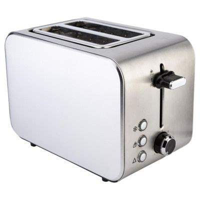 toaster stainless buy tesco 2 slice stainless steel toaster from our