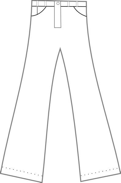 clothing pants outline clip art  clkercom vector clip