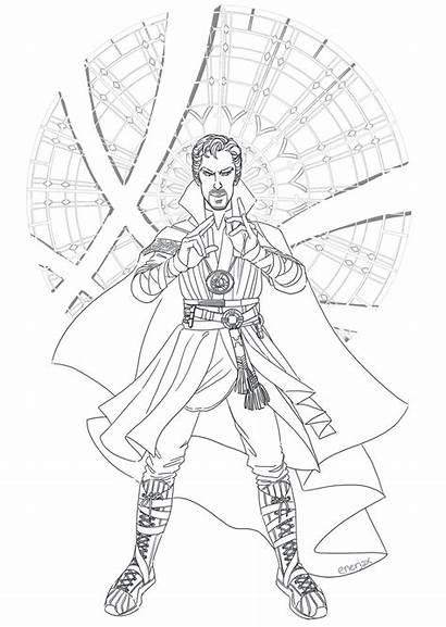 Strange Coloring Pages Doctor Dr Divergent Drawing
