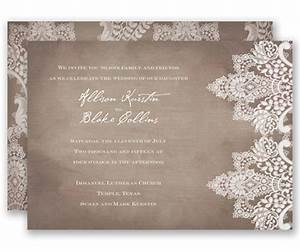 vintage lace wedding invitation by david39s bridal a chic With rustic wedding invitations david s bridal