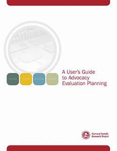 User U2019s Guide To Advocacy Evaluation Planning