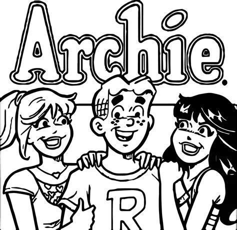 archie comics  girls coloring page