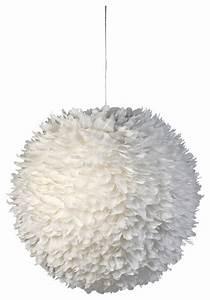 Suspension Luminaire Plume : luminaire boule plumes blanche contemporain suspension luminaire other metro par mat jewski ~ Teatrodelosmanantiales.com Idées de Décoration