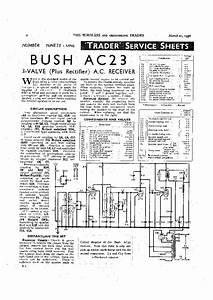 Bush Dac90 Mains Portable Radio 1949 Sm Service Manual Download  Schematics  Eeprom  Repair Info