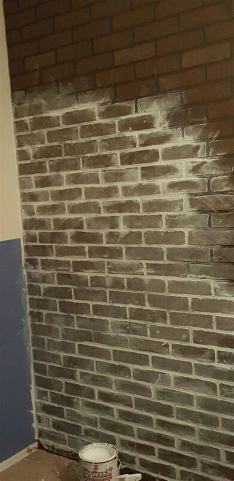 give your walls a new look with a faux brick wall your