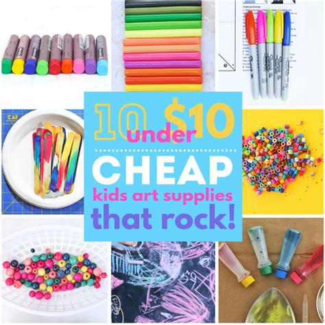 cheap kids art supplies  rock babble