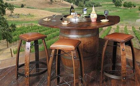 Coopers Furniture by Recycled Wine Barrels The Owner Builder Network