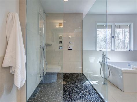 Modern Bathroom Floor Images by 30 Cool Pictures And Ideas Pebble Shower Floor Tile