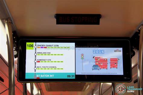 lta trials  information display  buses land