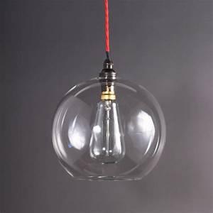 Edison light glass shade home