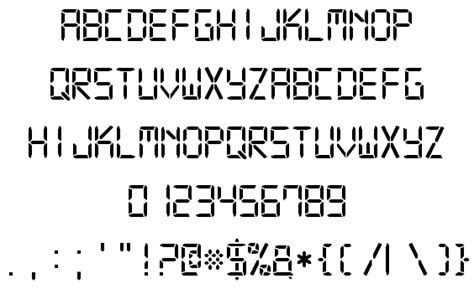 digital  font  style  fontspace
