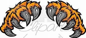 Tiger Claws Clipart Cartoon Image. | Art- Murals/ Bulletin ...