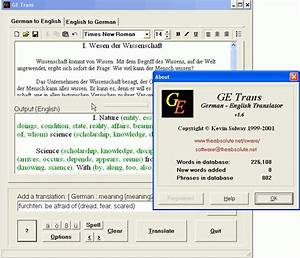 getrans german to english translation software With german to english document translation online