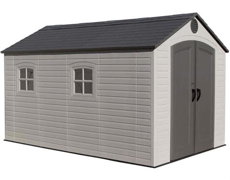 lifetime 15x8 shed uk lifetime 15x8 plastic garden storage shed kit with floor