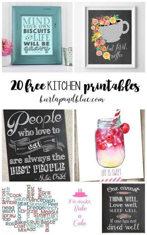 free kitchen printables free kitchen printables