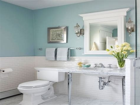 traditional bathroom mirror light blue bathroom ideas