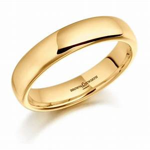 brown newirth 6mm heavier court men39s 18ct yellow gold With mens 18ct gold wedding rings