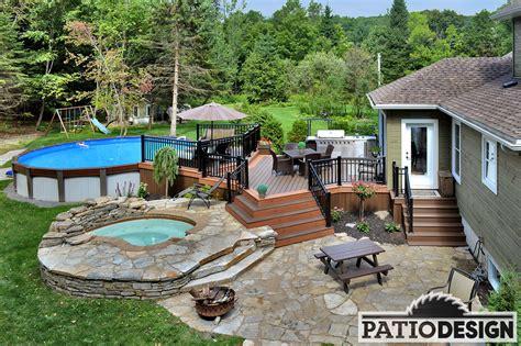 patio design patio design patios avec piscine hors terre les
