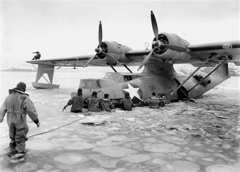 Flying Boat Us Navy by Kodiak Alaska 1943 Uscg Recon Flying Boat Pby