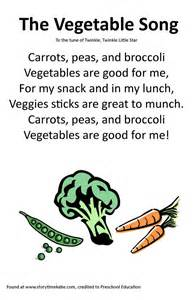 Vegetable Poems for Preschoolers