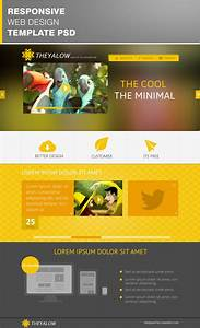 theyalow responsive web design template psd download With homepage template free download