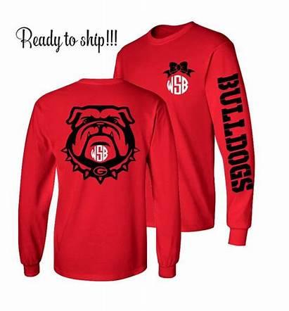 Georgia Shirt Shirts Bulldog Bulldogs Sleeve Monogrammed