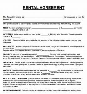 20 rental agreement templates word excel pdf formats With rental house rules template