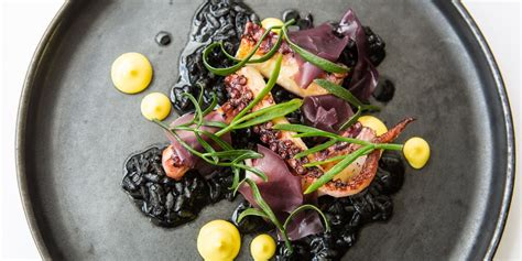 sous vide octopus  black risotto recipe great
