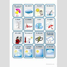 Weather Flashcards Worksheet  Free Esl Printable Worksheets Made By Teachers