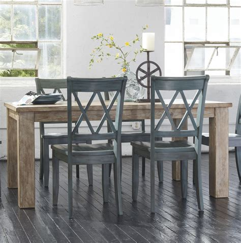 signature design by mestler table with 4 antique