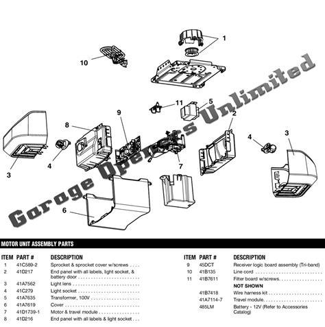 garage door opener parts liftmaster 8550 replacement parts garage door operator