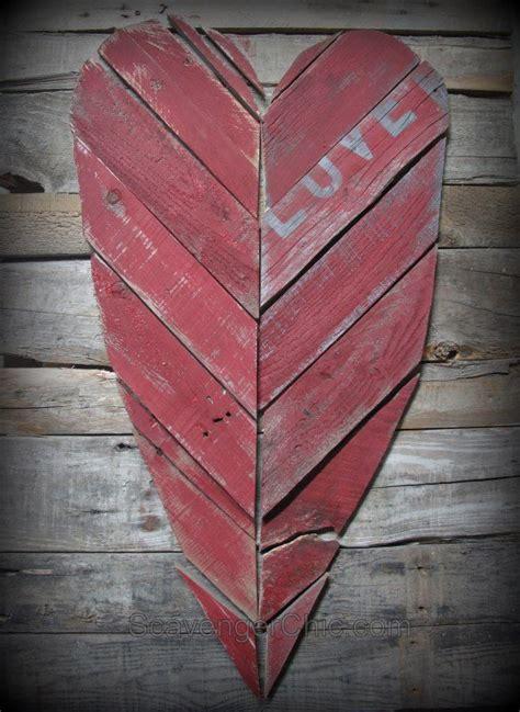 reclaimed pallet heart rustic heart reclaimed wood heart