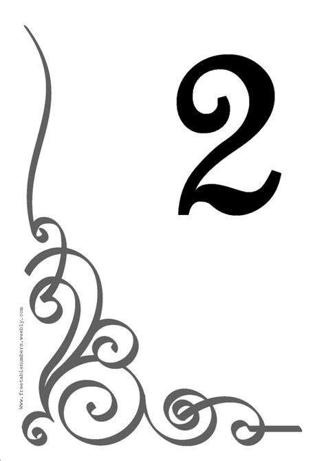 flourish printable diy table numbers  table numbers